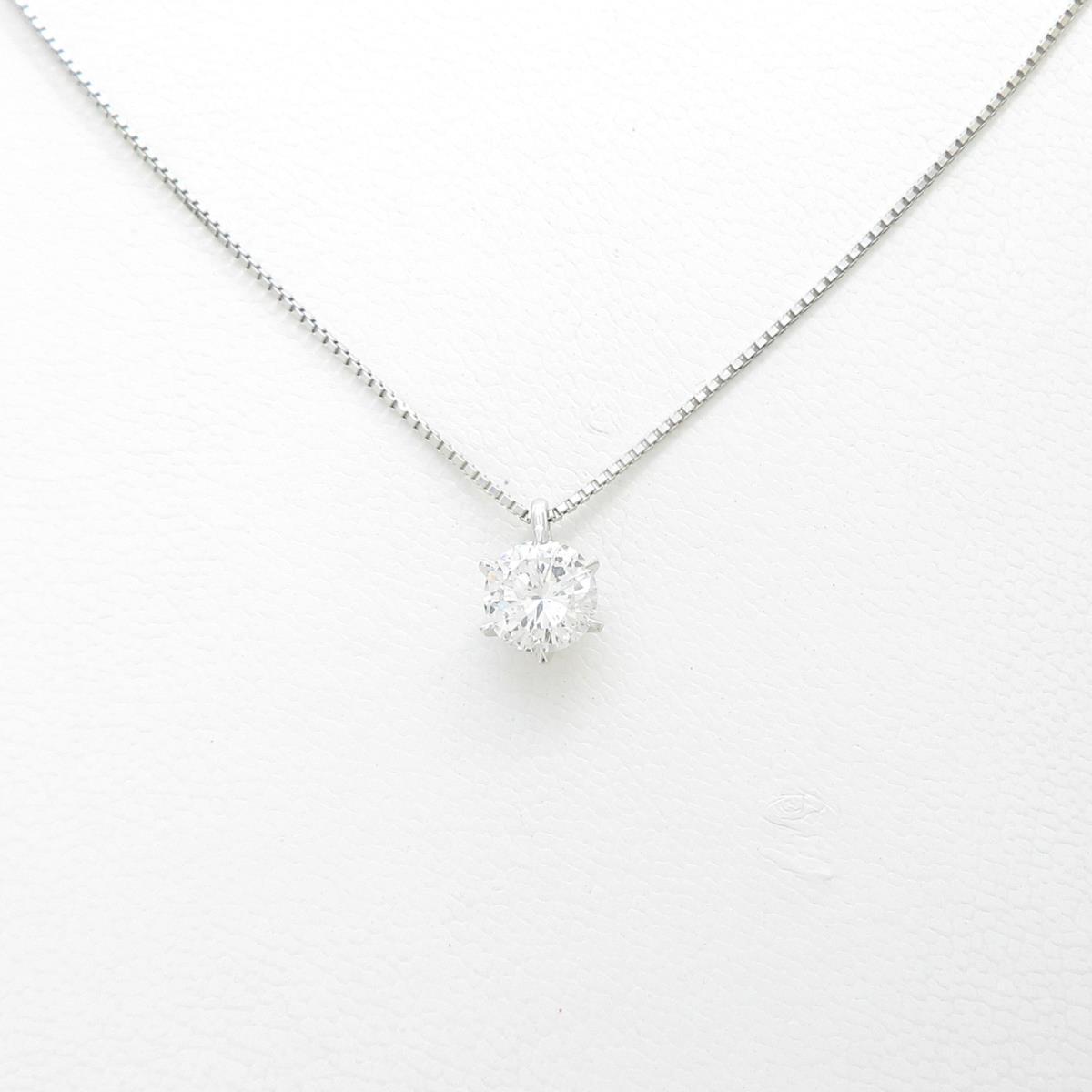 【リメイク】プラチナダイヤモンドネックレス 1.015ct・E・I1・GOOD【中古】