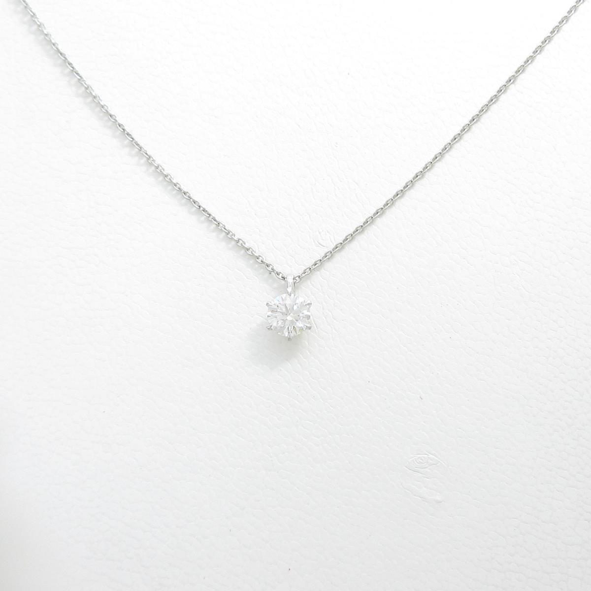 【リメイク】プラチナダイヤモンドネックレス 0.321ct・D・VS2・EXT H&C【中古】