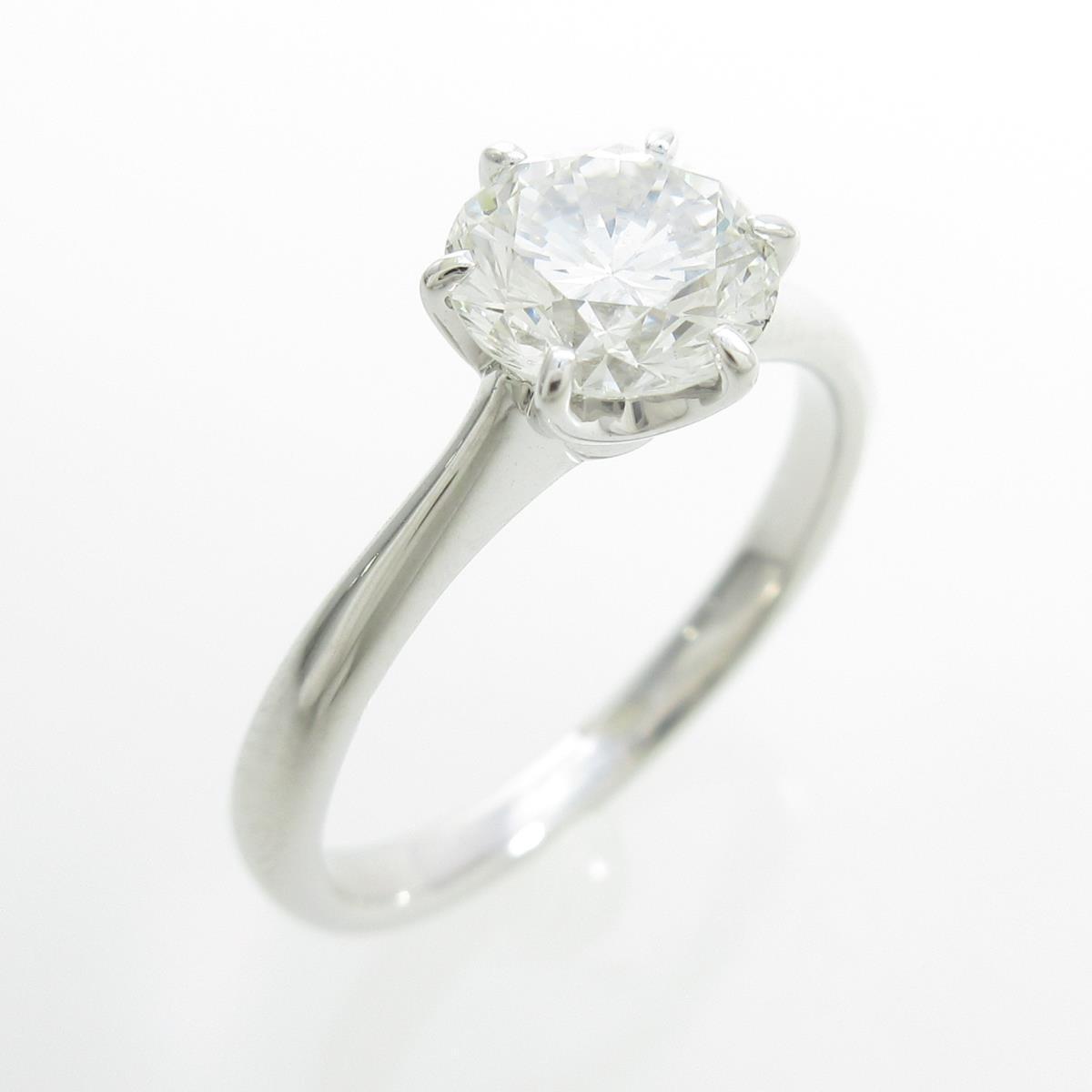 【リメイク】プラチナダイヤモンドリング 1.092ct・H・SI1・GOOD【中古】
