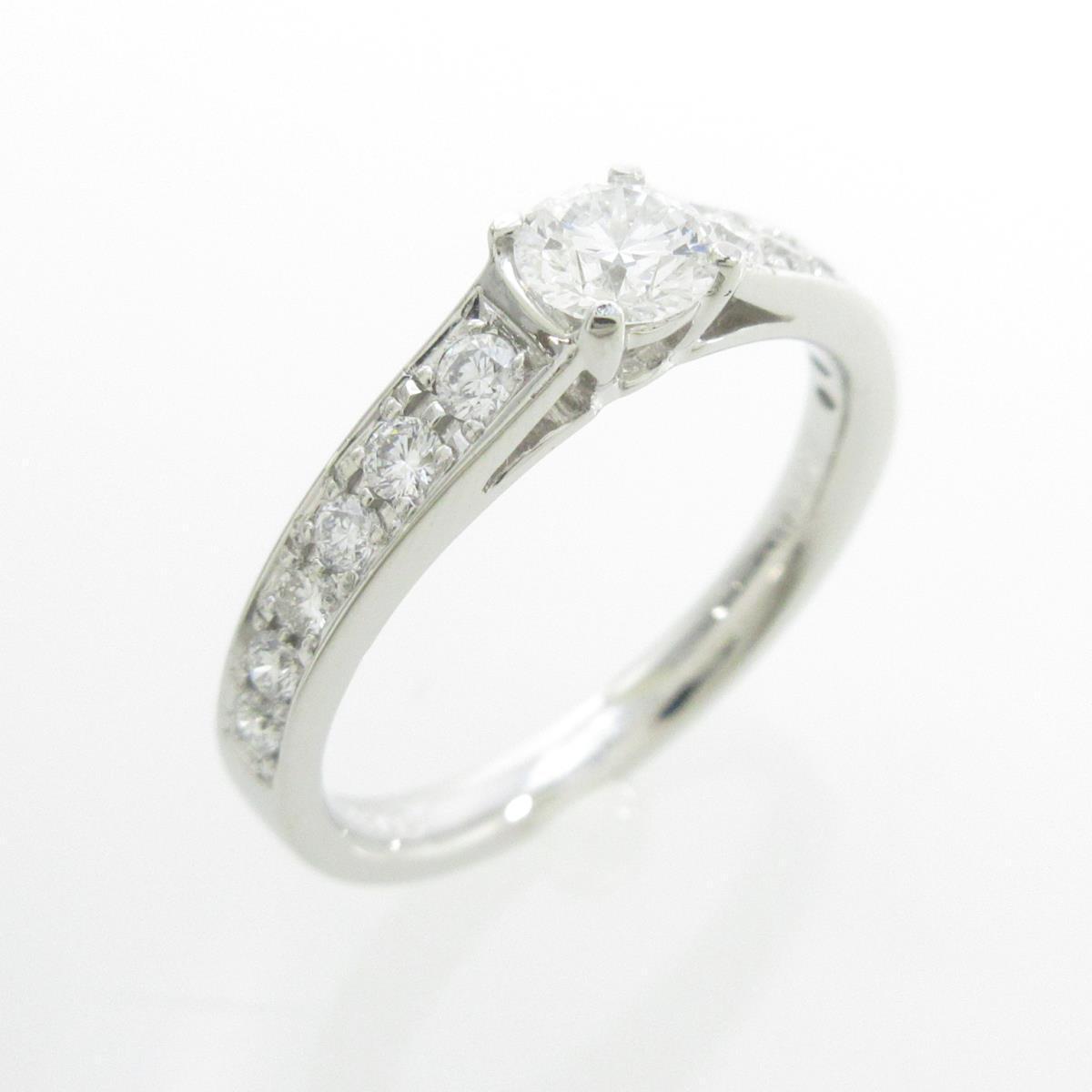 プラチナダイヤモンドリング 0.326ct・D・SI1・VG【中古】