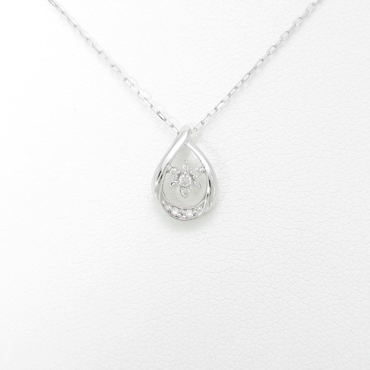 4゜C フラワー ダイヤモンドネックレス【中古】