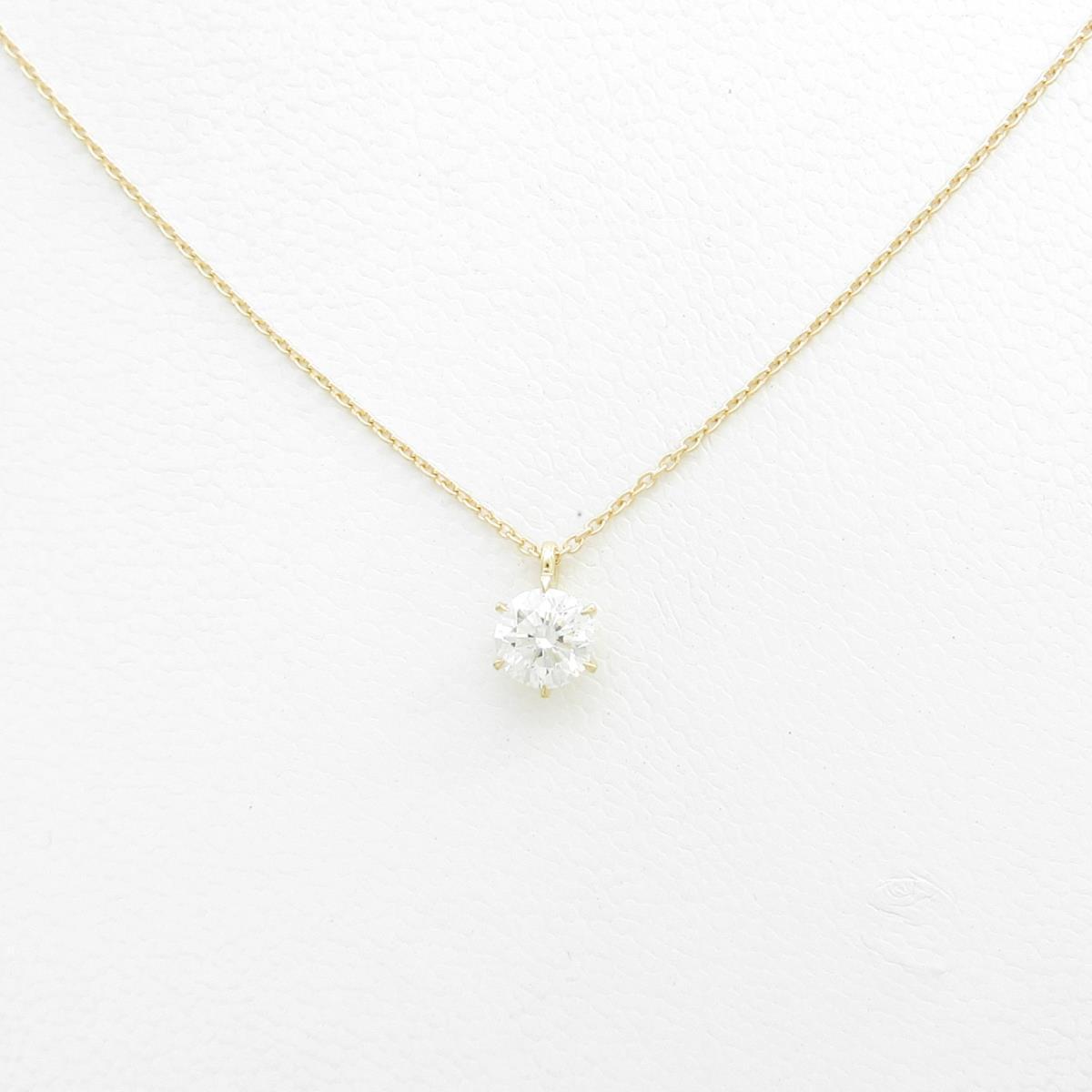 【リメイク】K18YG ダイヤモンドネックレス 0.518ct・H・I1・GOOD【中古】