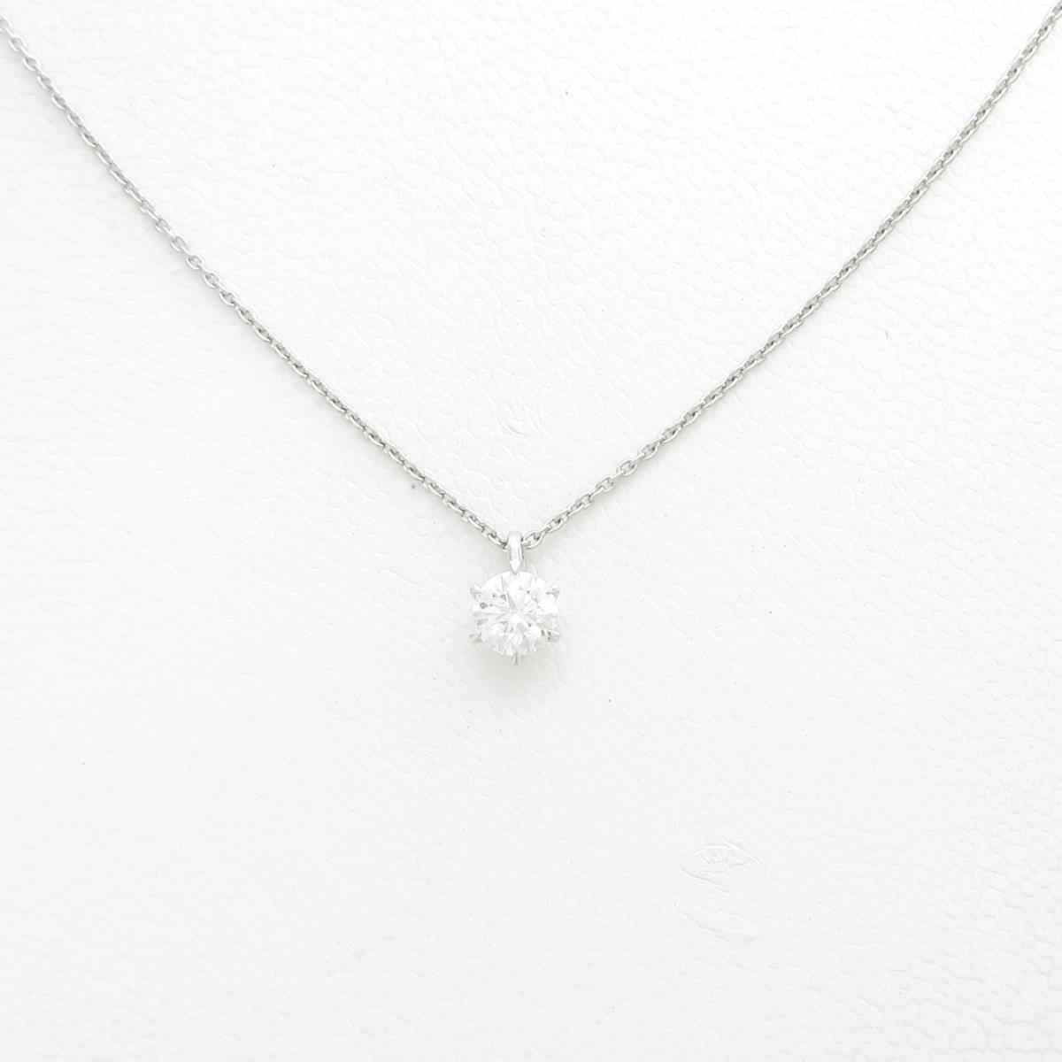 【リメイク】プラチナダイヤモンドネックレス 0.318ct・F・SI1・EXT H&C【中古】