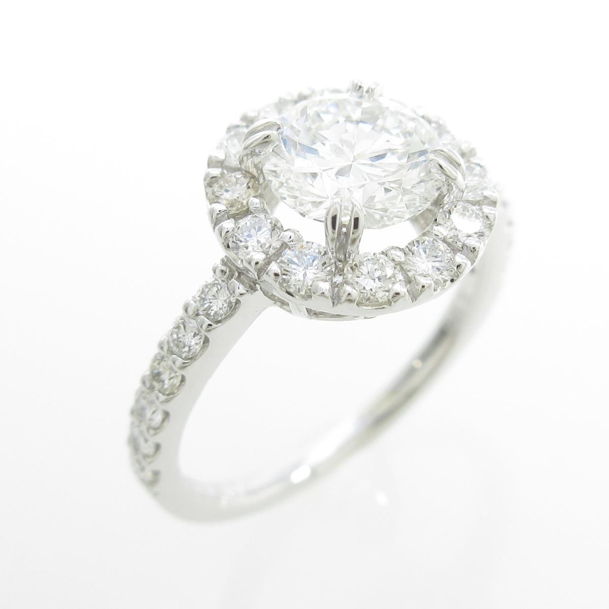 【リメイク】プラチナダイヤモンドリング 1.070ct・F・VS2・VG【中古】
