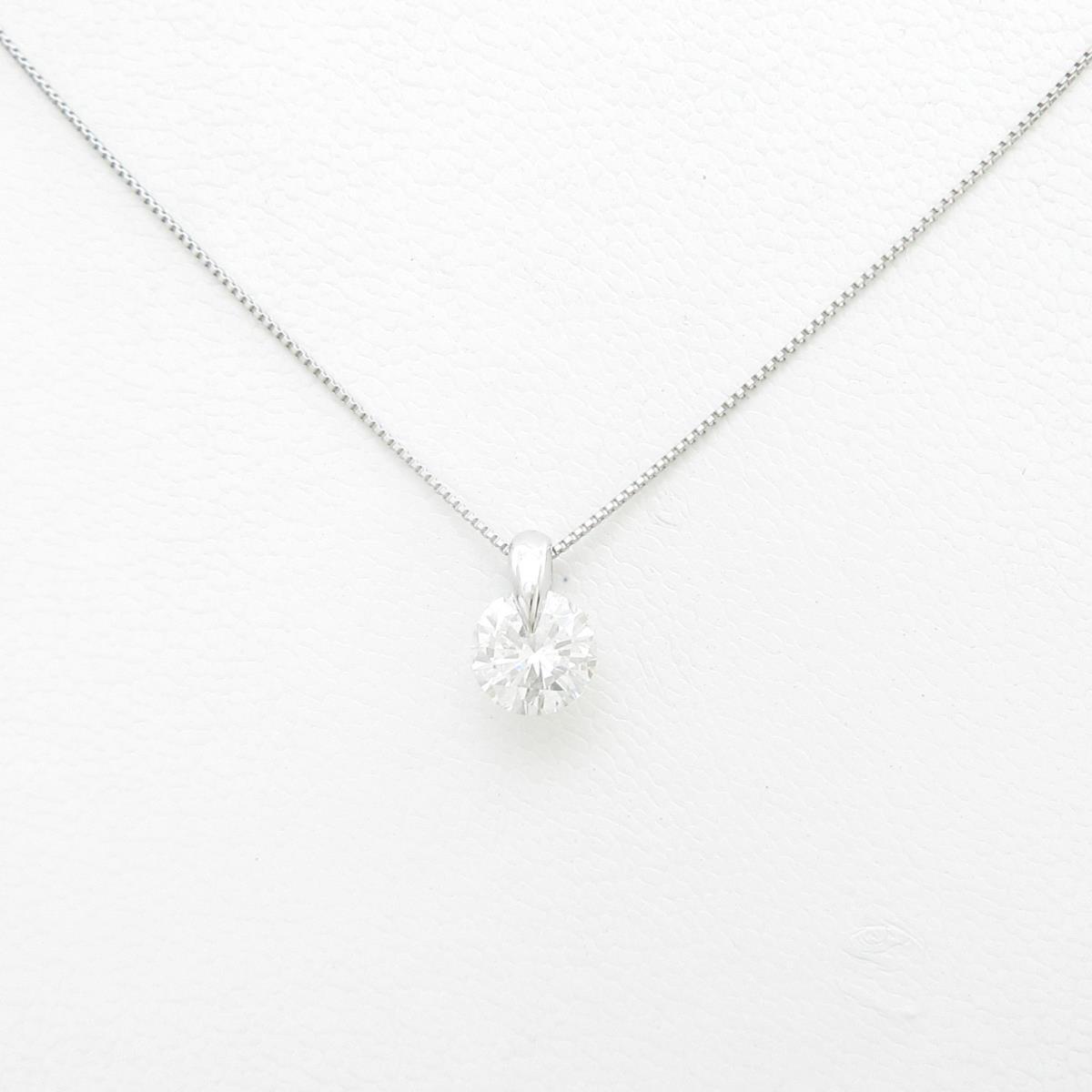 【リメイク】プラチナダイヤモンドネックレス 1.097ct・G・I1・GOOD【中古】