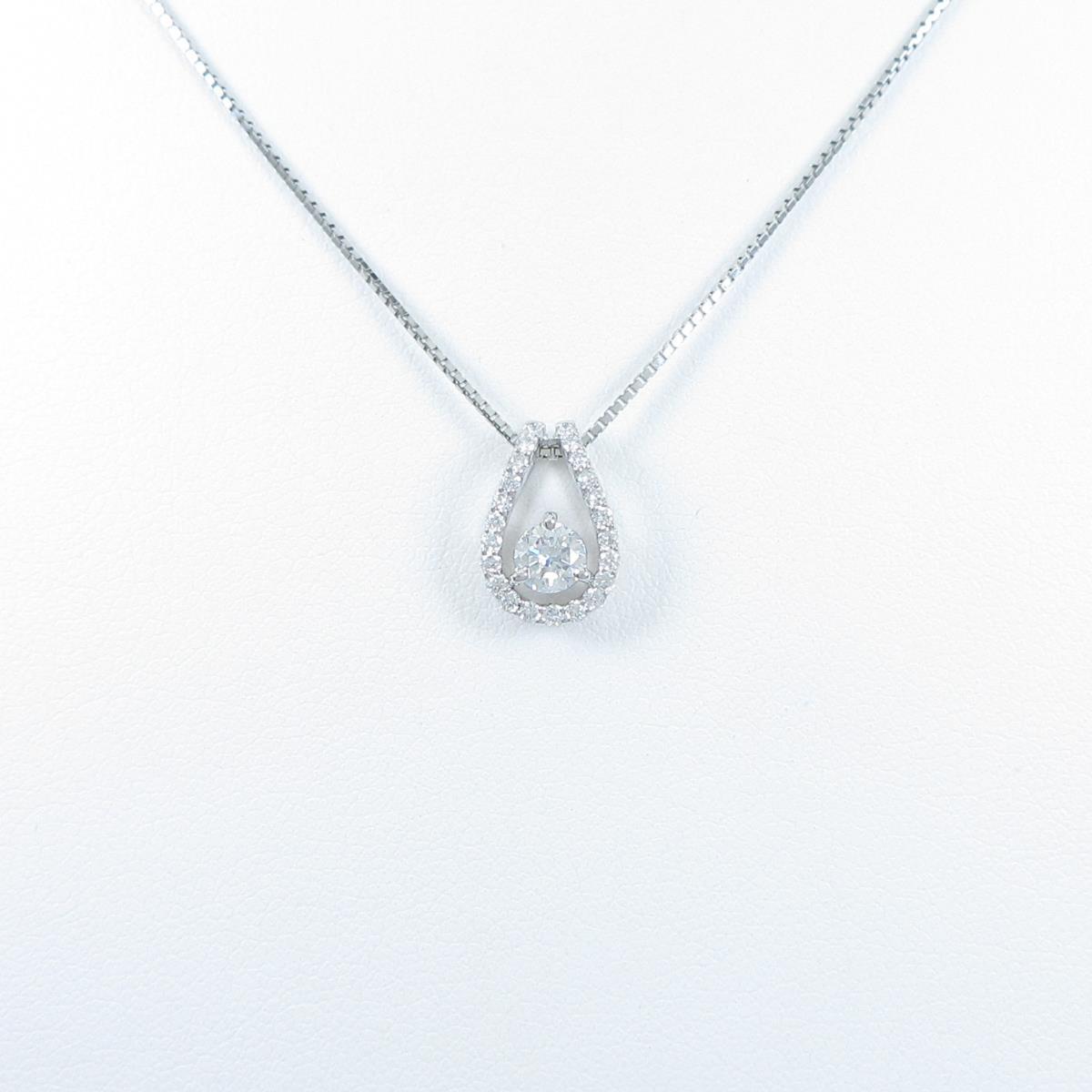【新品】プラチナダイヤモンドネックレス 0.245ct・F・SI2・GOOD【新品】