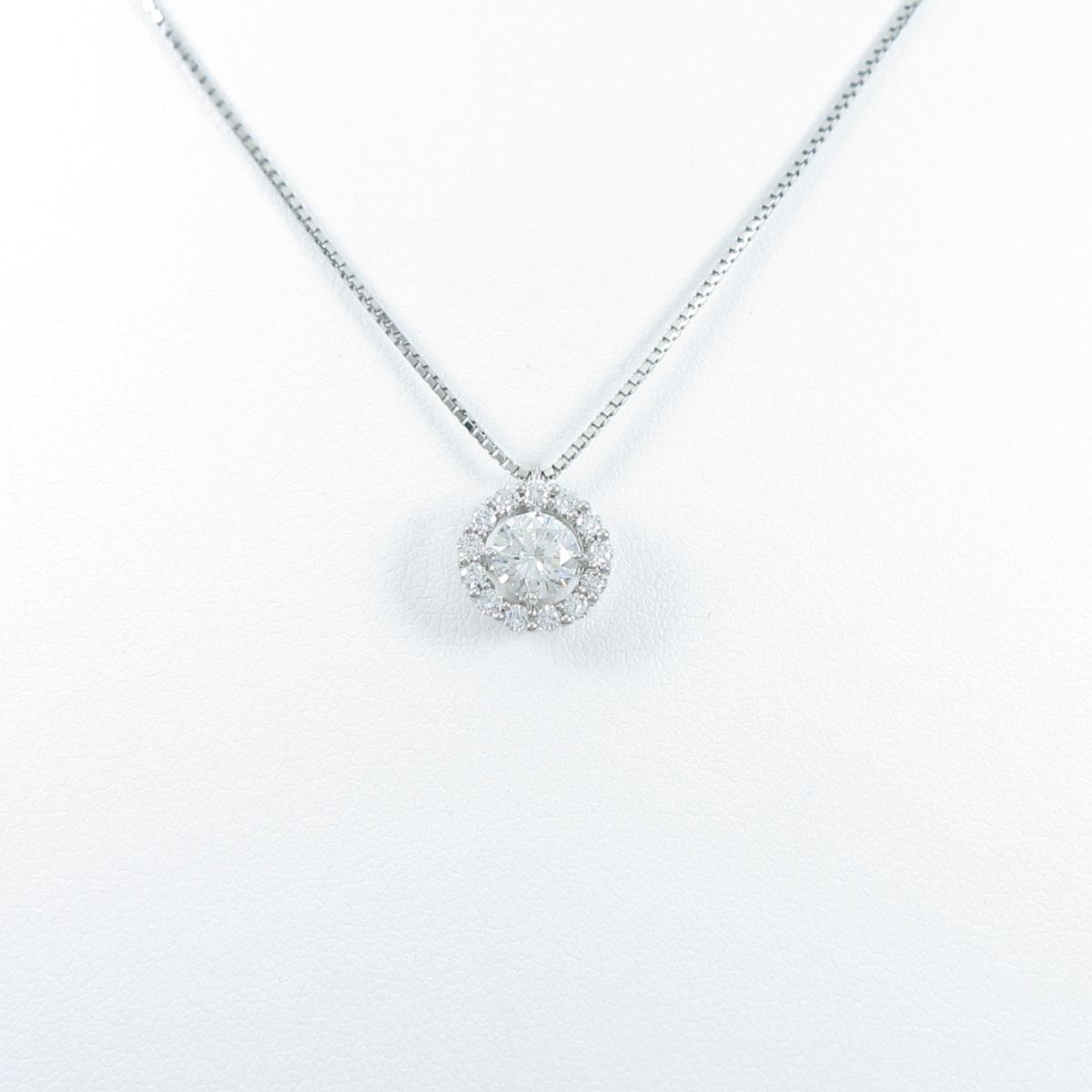 【新品】プラチナダイヤモンドネックレス 0.546ct・F・SI2・GOOD【新品】