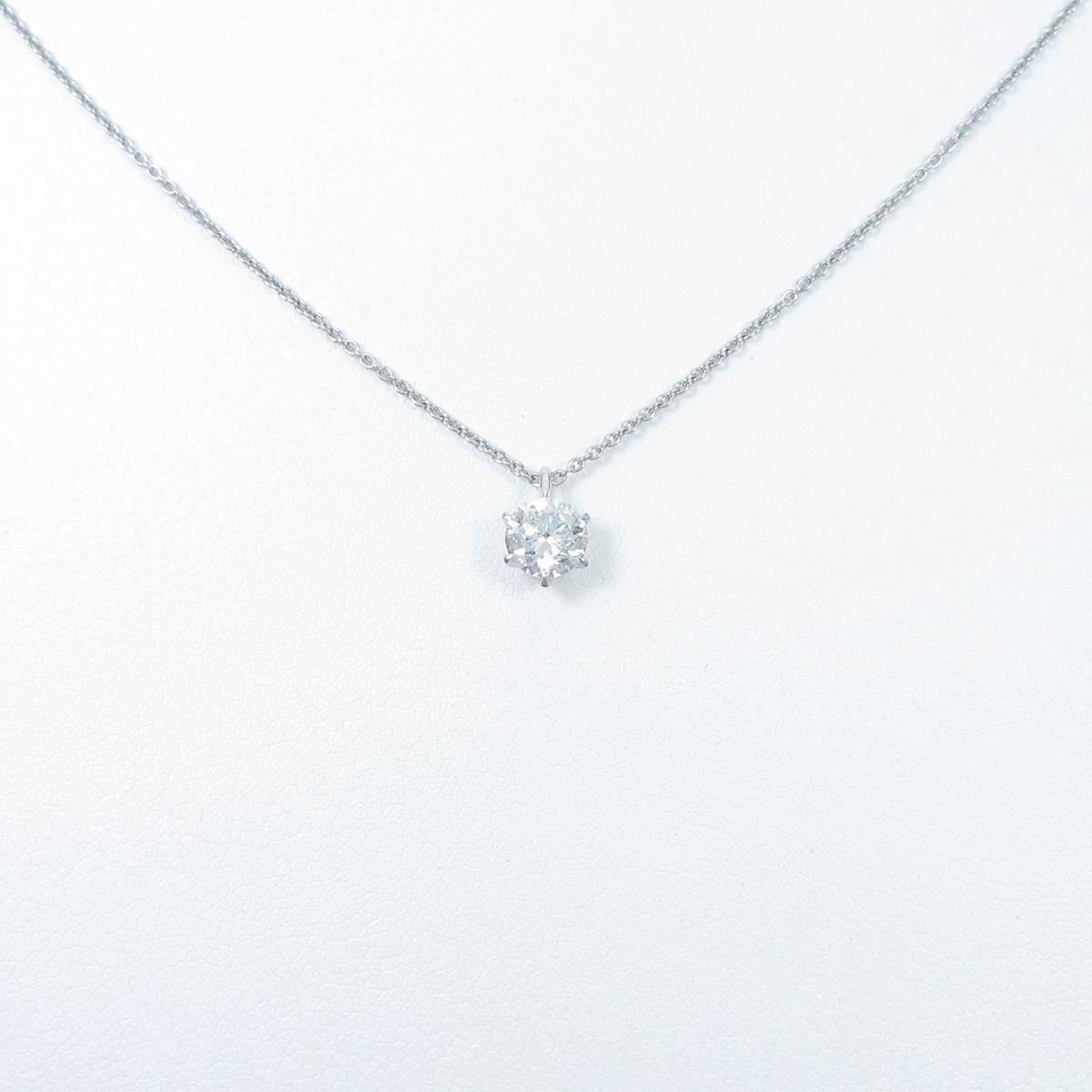 【リメイク】プラチナダイヤモンドネックレス 0.516ct・G・I1・GOOD【中古】