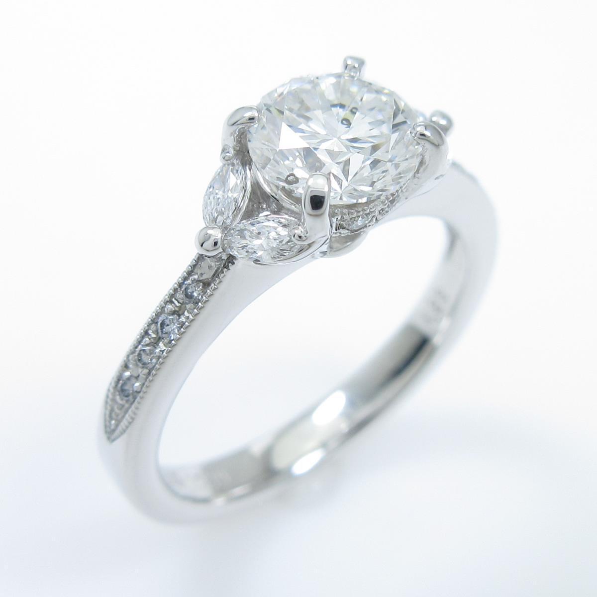 【リメイク】プラチナダイヤモンドリング 1.029ct・F・SI1・GOOD【中古】