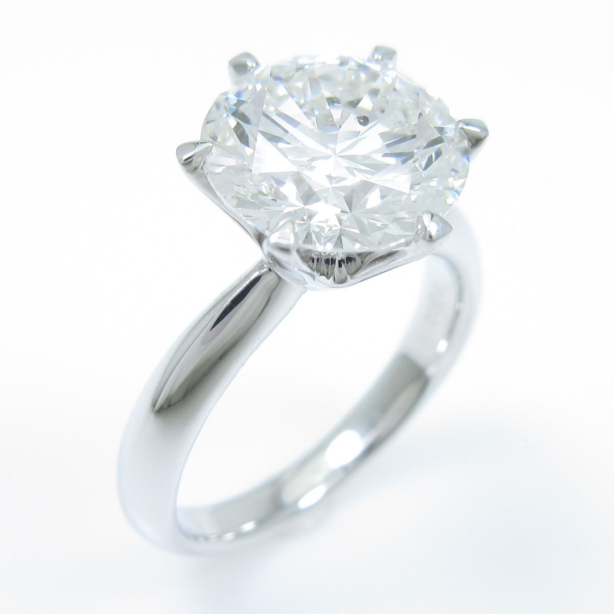 【リメイク】プラチナダイヤモンドリング 3.174ct・G・SI2・3EXT【中古】