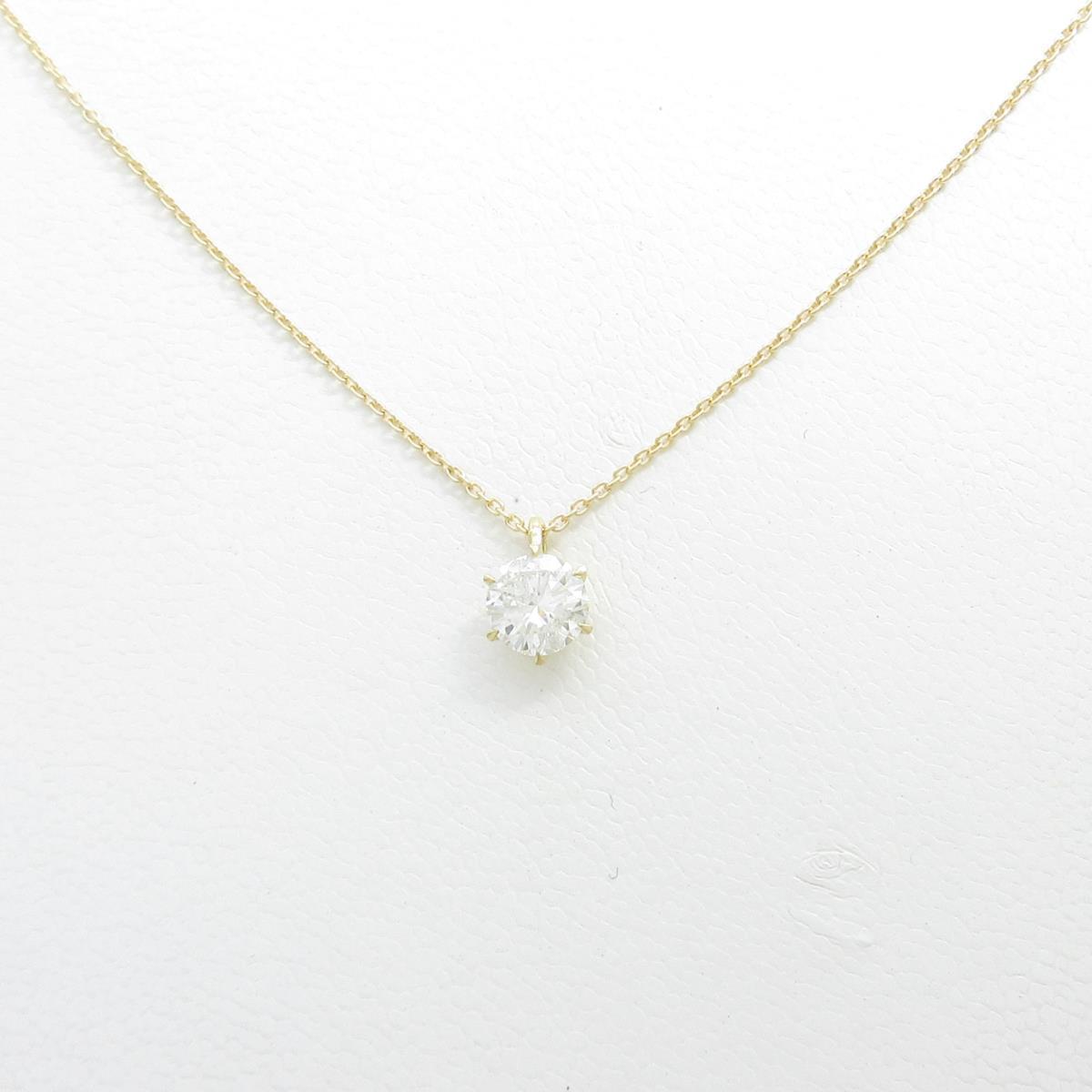 【リメイク】K18YG ダイヤモンドネックレス 0.525ct・H・I1・G【中古】