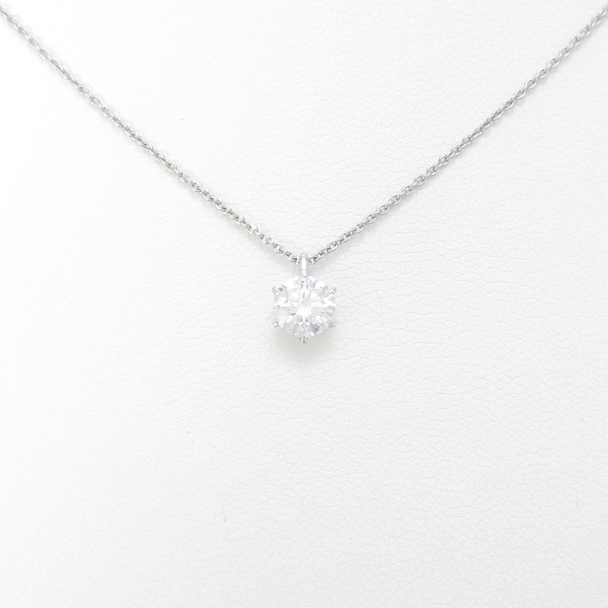 【リメイク】プラチナダイヤモンドネックレス 0.511ct・G・SI2・3EXT【中古】
