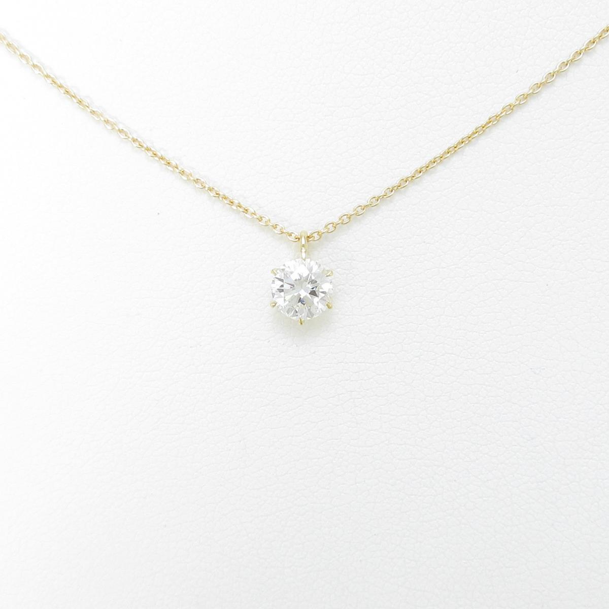 【リメイク】K18YG ダイヤモンドネックレス 0.517ct・H・SI1・GOOD【中古】