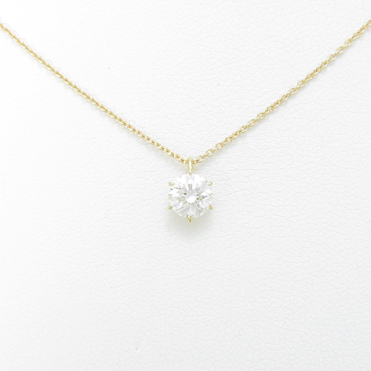 【リメイク】K18YG ダイヤモンドネックレス 0.563ct・G・VVS1・VG【中古】