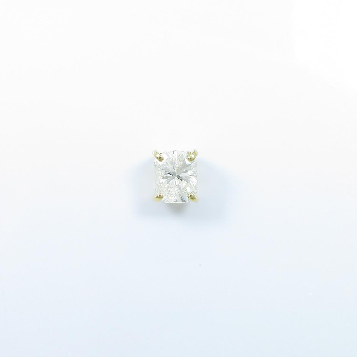 【リメイク】K18YG/ST ダイヤモンドピアス 1.012ct・J・I1・ファンシーカット 片耳【中古】