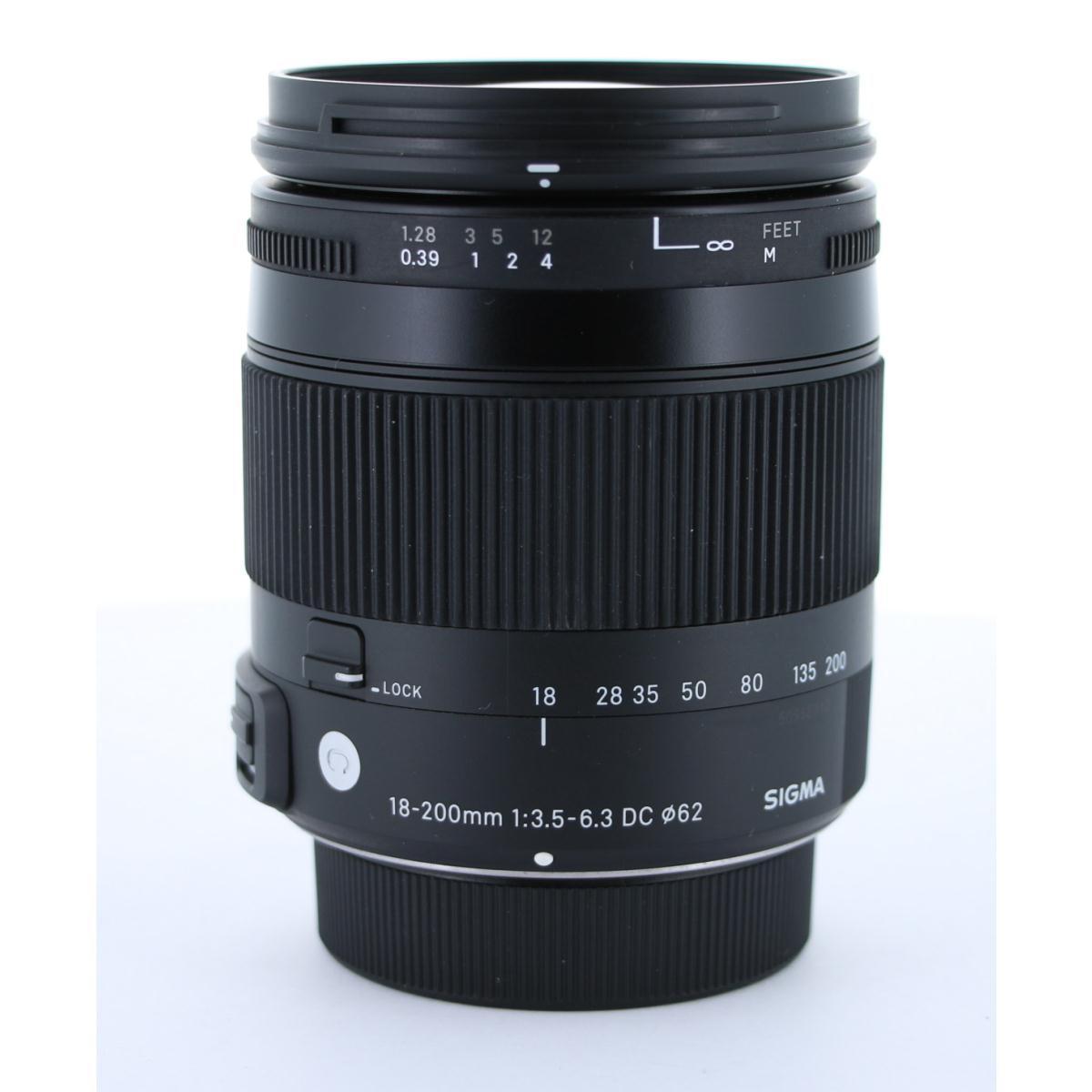 SIGMA ニコン(C)18-200mm F3.5-6.3DCマクロ【中古】