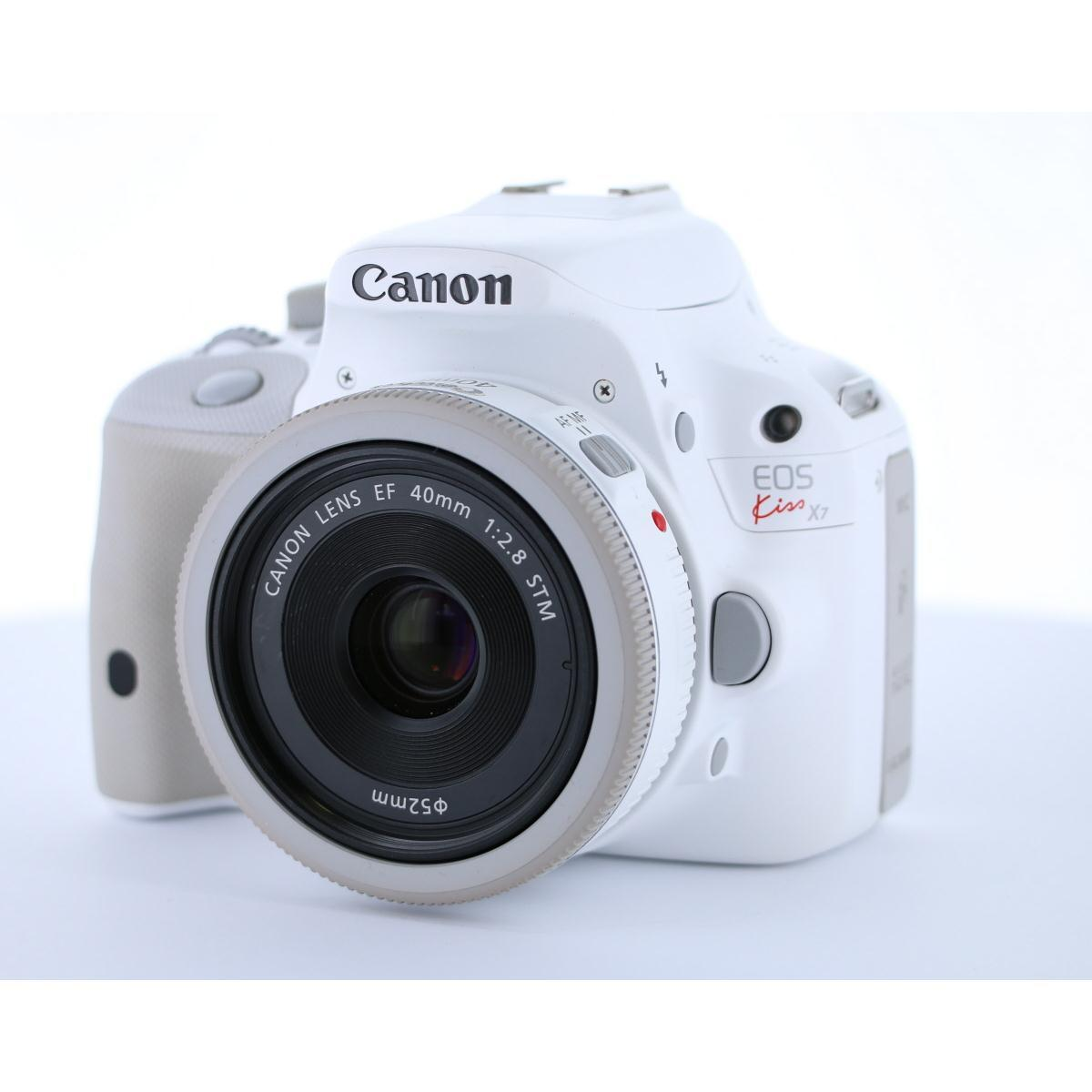 CANON KISS X7 WHITE 40mm F2.8KIT【中古】