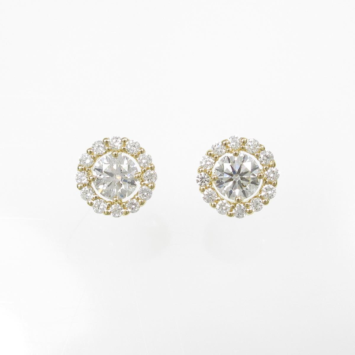 【新品】K18YG ダイヤモンドピアス 0.315ct・0.302ct・H・SI2・VG【新品】