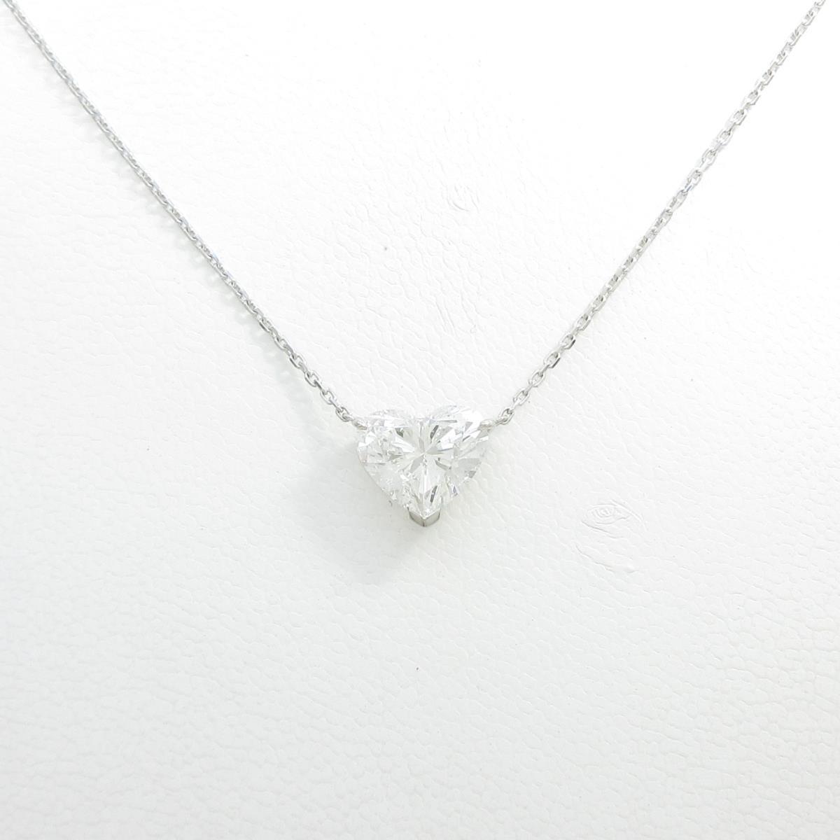 プラチナダイヤモンドネックレス 2.007ct・G・SI2・ハートシェイプ【中古】