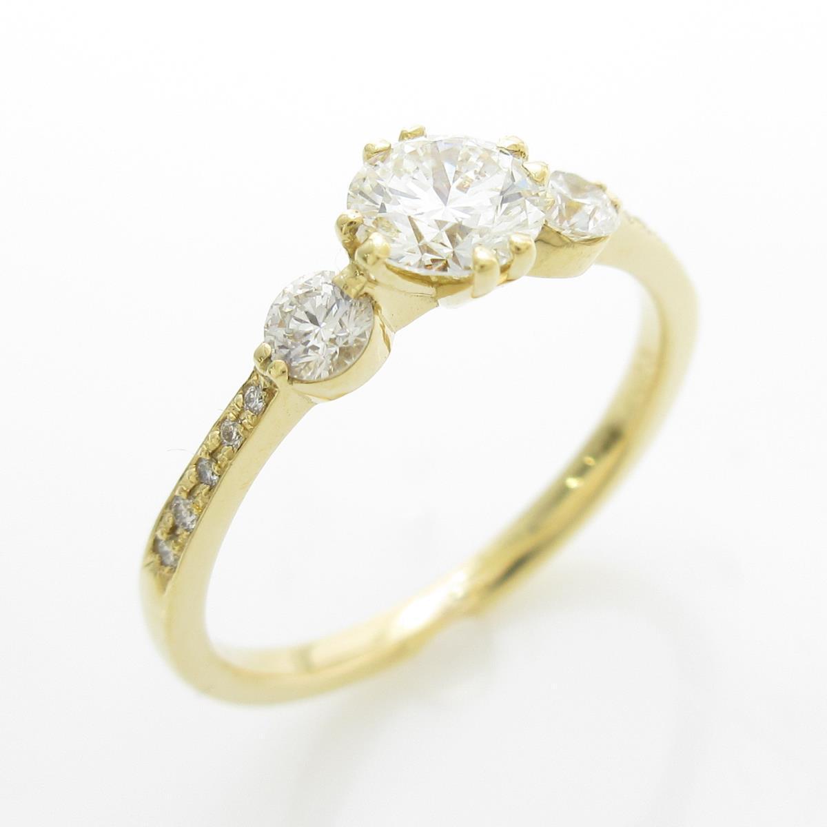 【リメイク】K18YG ダイヤモンドリング 0.435ct・J・VS2・3EXT【中古】
