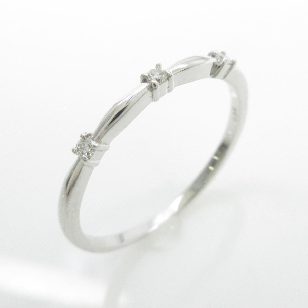 【リメイク】K18WG ダイヤモンドリング【中古】