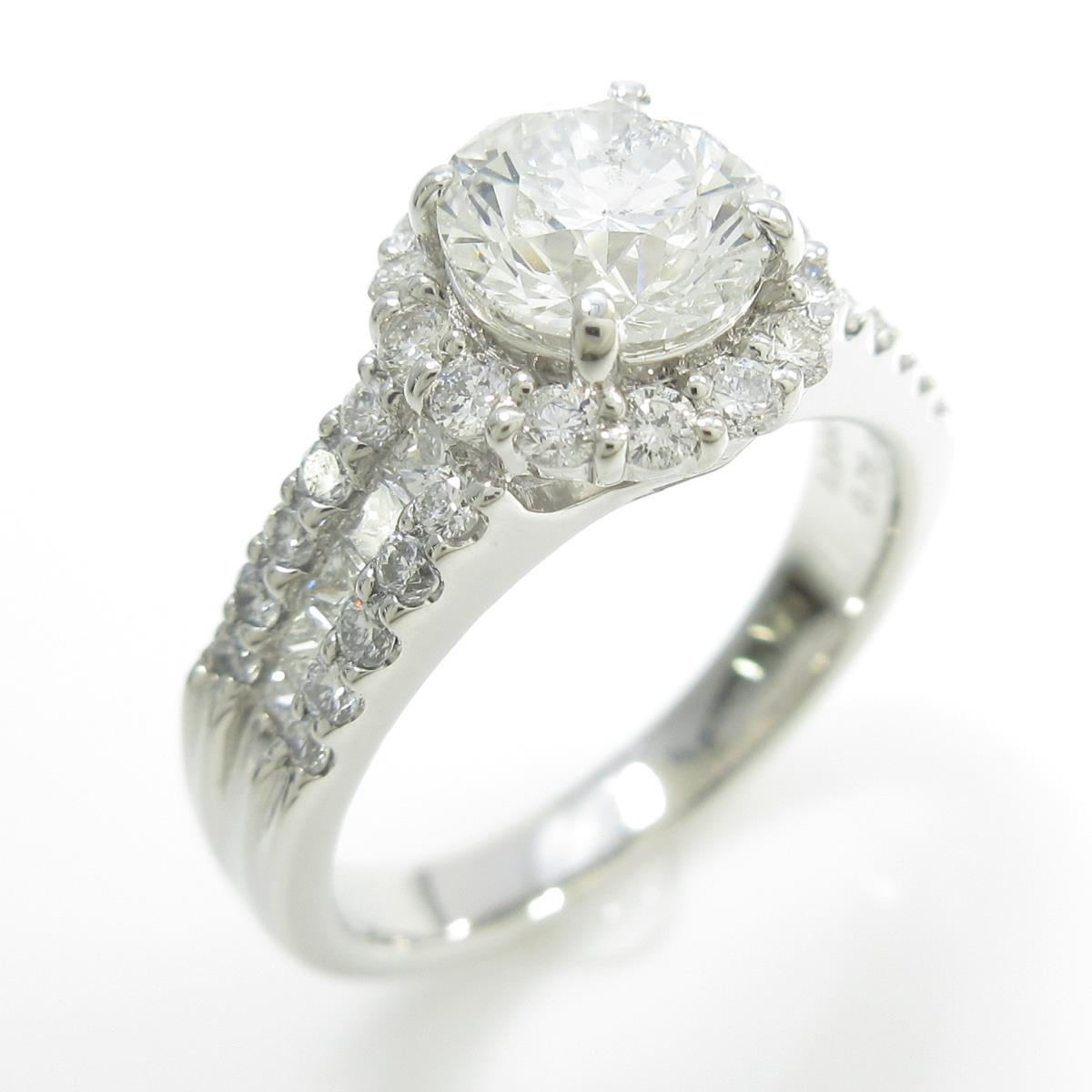 プラチナダイヤモンドリング 1.063ct・H・SI2・GOOD【中古】