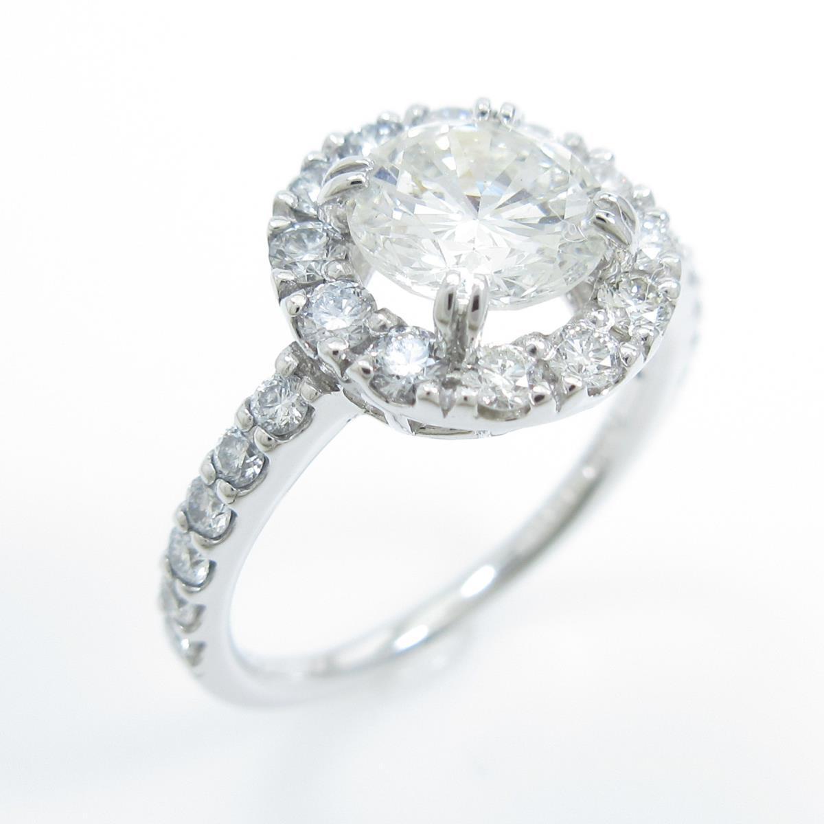 【リメイク】プラチナダイヤモンドリング 1.011ct・I・VS1・GOOD【中古】