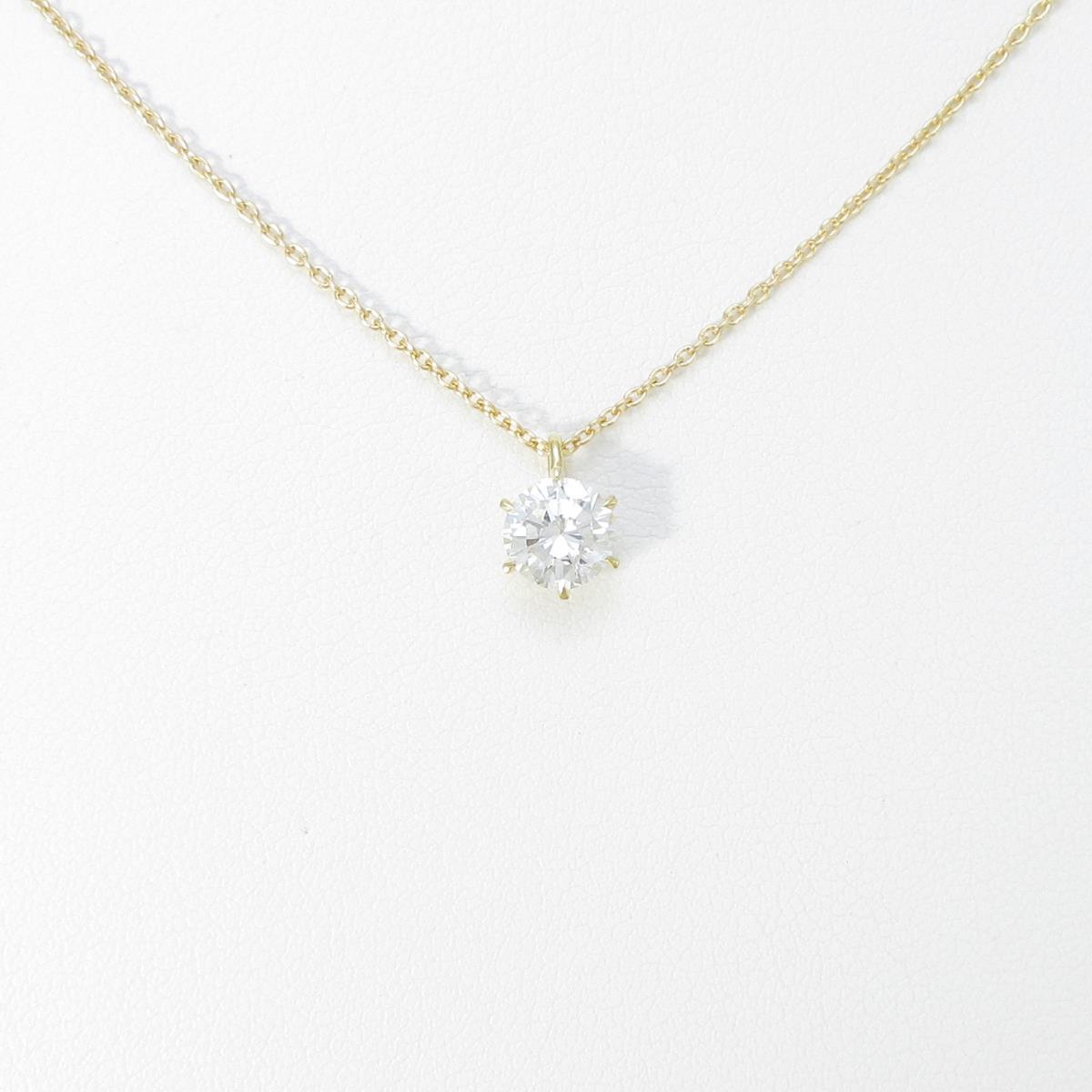 【リメイク】K18YG ダイヤモンドネックレス 0.641ct・G・SI1・VG【中古】