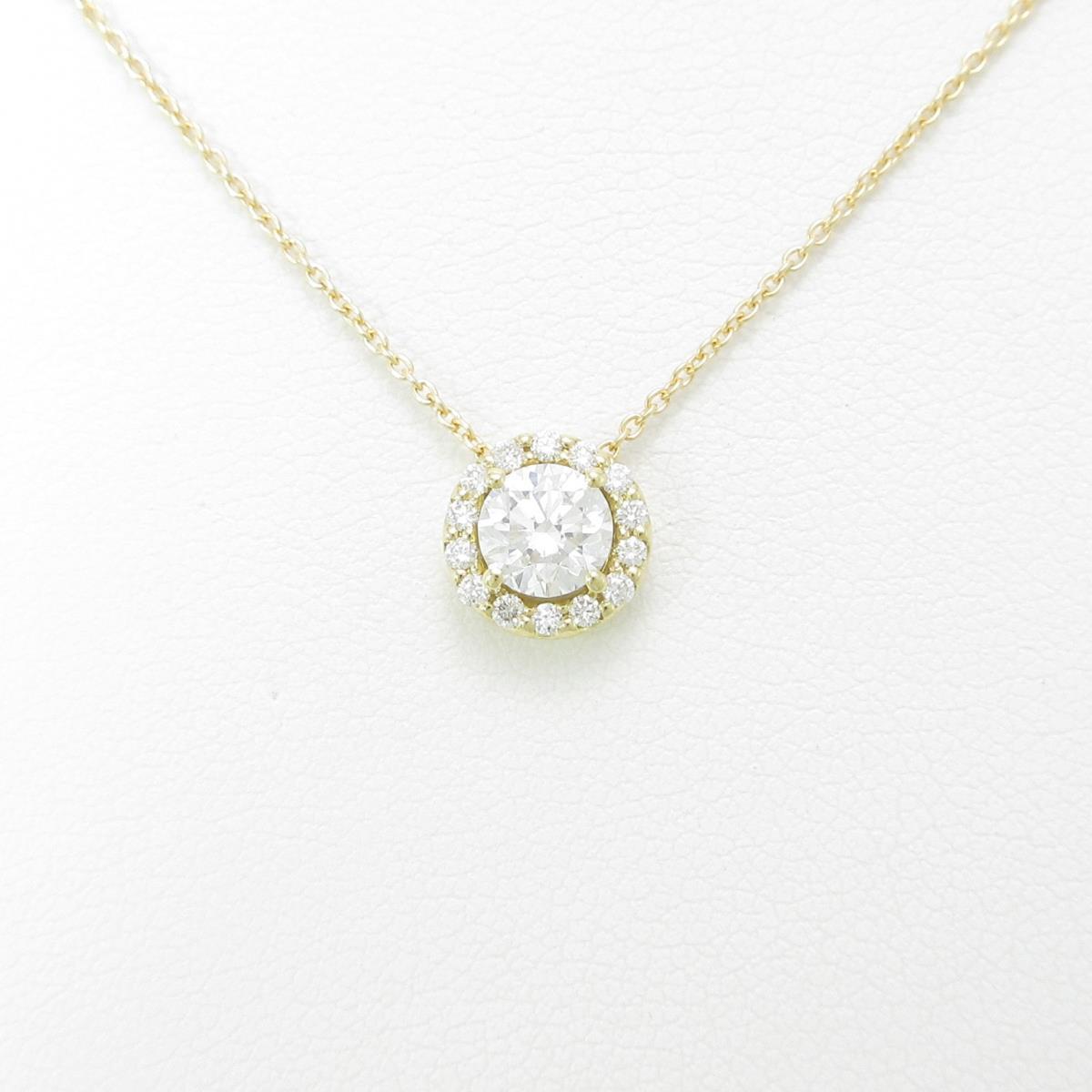 【リメイク】K18YG ダイヤモンドネックレス 0.507ct・G・SI2・VG【中古】