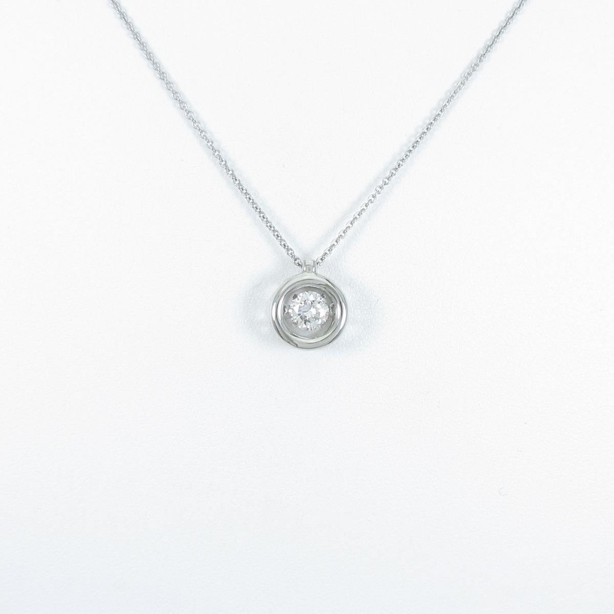 【リメイク】プラチナダイヤモンドネックレス 0.335ct・G・SI1・VG【中古】