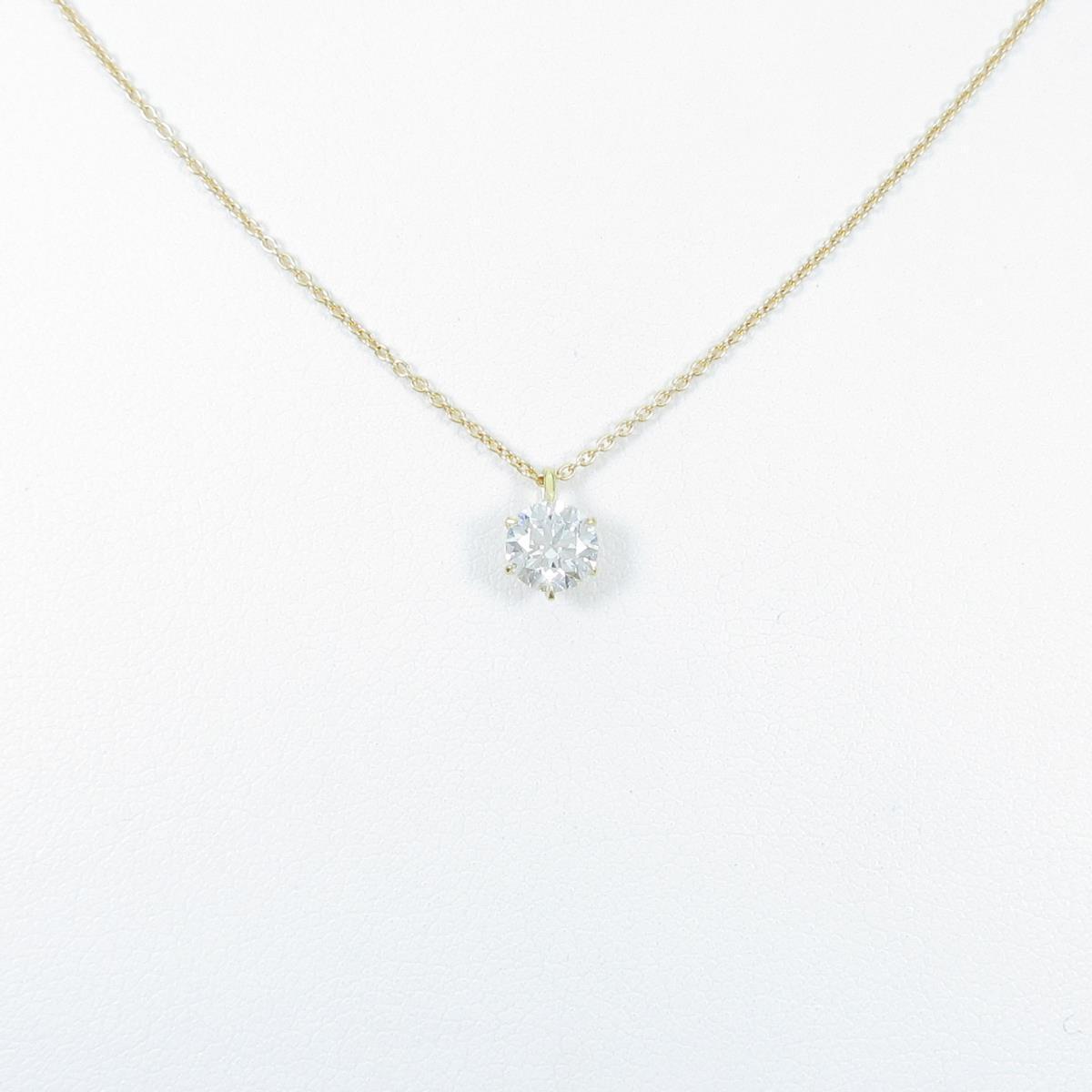 【リメイク】K18YG ダイヤモンドネックレス 0.526ct・E・VVS1・EXT【中古】