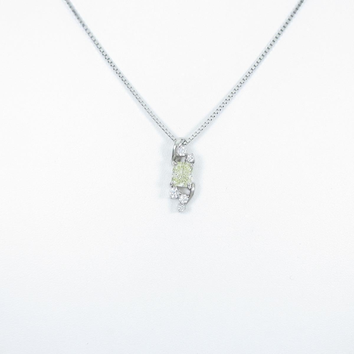 プラチナダイヤモンドネックレス 1.068ct・LY・SI2・ファンシーカット【中古】