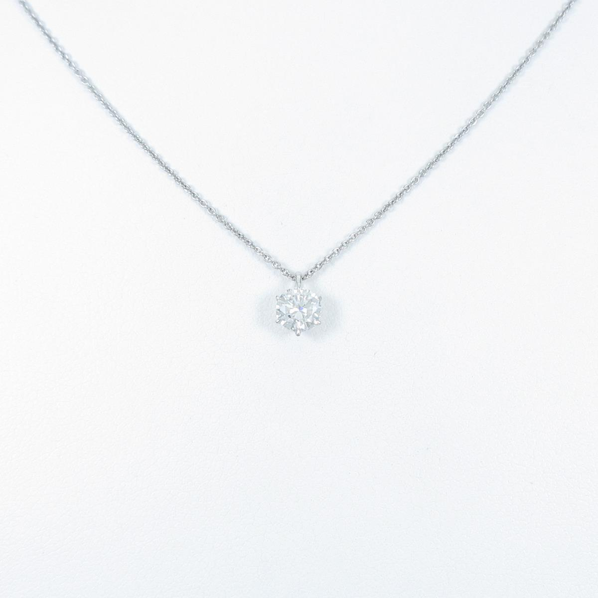 【リメイク】プラチナダイヤモンドネックレス 0.515ct・G・VS2・VG【中古】