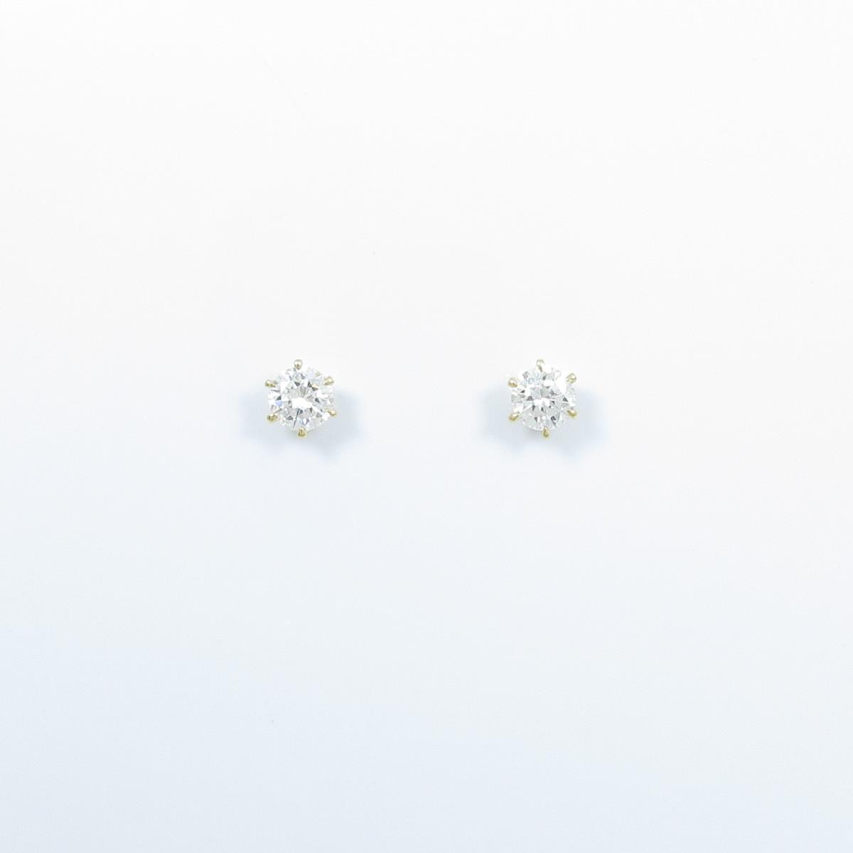 【リメイク】K18YG ダイヤモンドピアス 0.201ct・0.202ct・F・SI1-SI2・VG【中古】