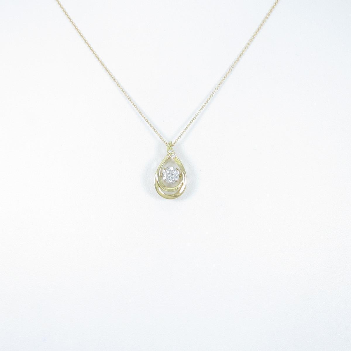【リメイク】K18YG ダイヤモンドネックレス 0.532ct・G・I1・GOOD【中古】