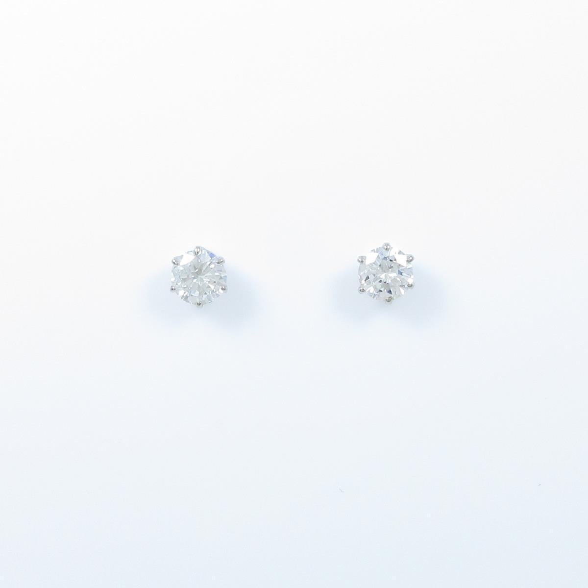 プラチナダイヤモンドピアス 0.331ct・0.336ct・F-G・SI2・GOOD【中古】