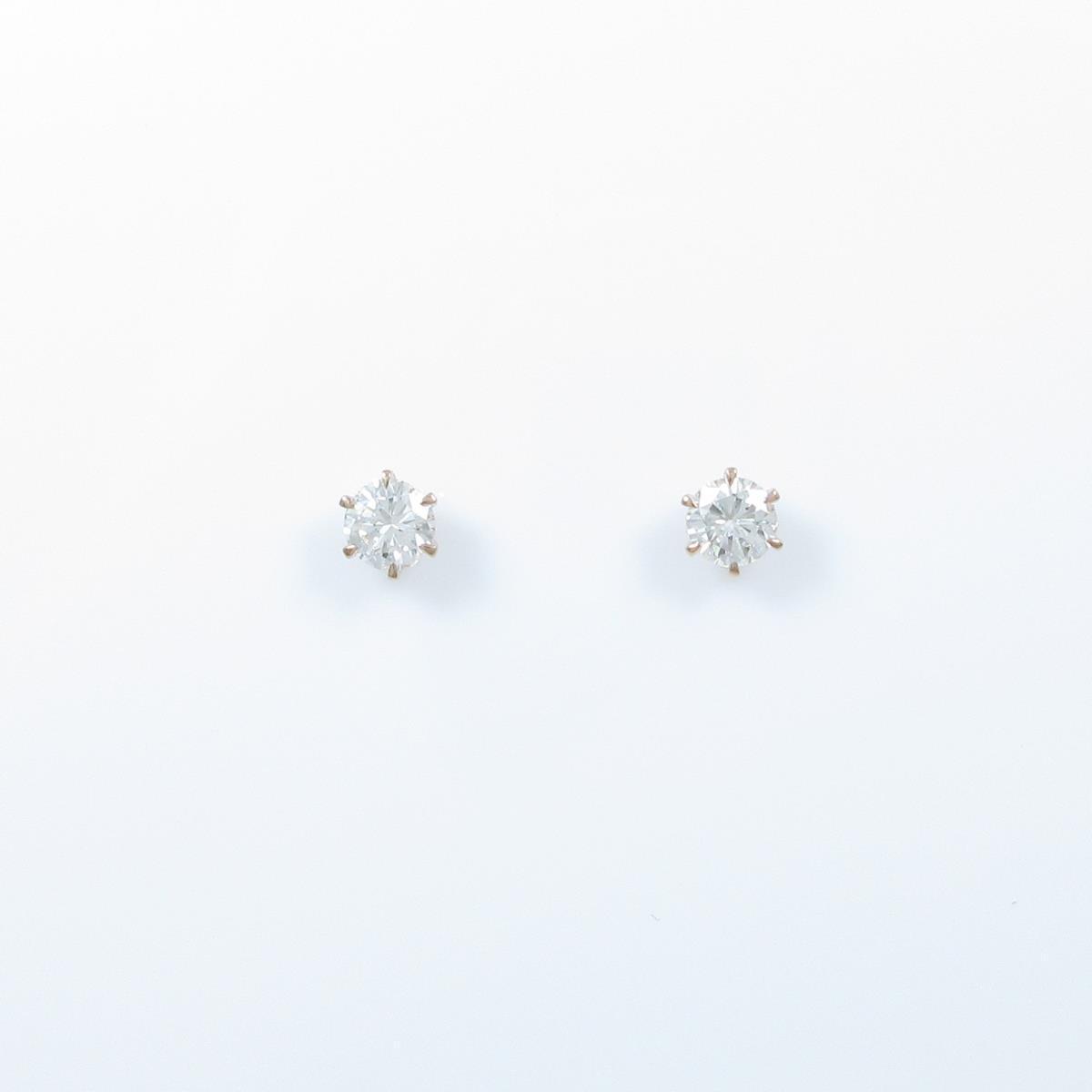 【リメイク】K18PG/ST ダイヤモンドピアス 0.250ct・0.260ct・H・VS1-2・GOOD【中古】