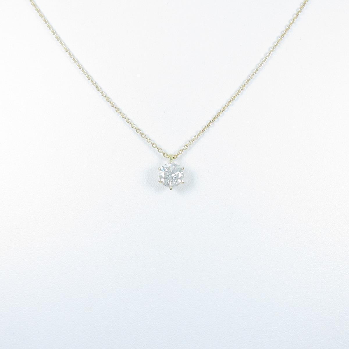 【リメイク】K18YG ダイヤモンドネックレス 1.005ct・F・SI2・GOOD【中古】
