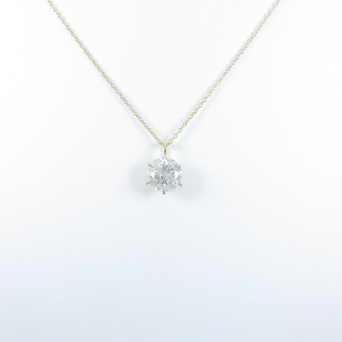 【リメイク】K18YG ダイヤモンドネックレス 3.012ct・I・I1・GOOD【中古】