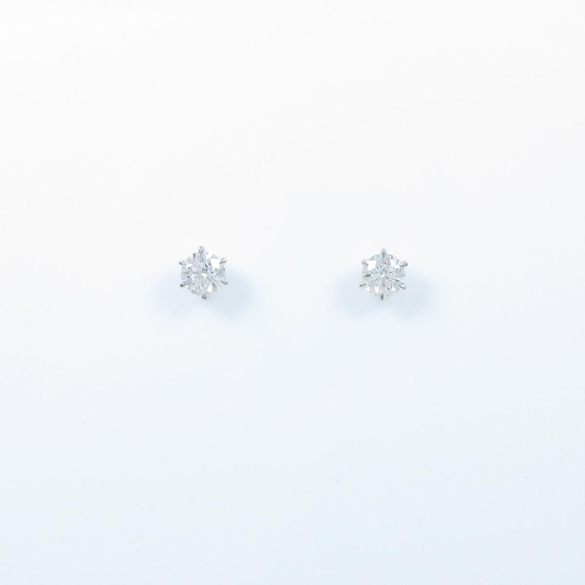【リメイク】ST/プラチナダイヤモンドピアス 0.201ct・0.214ct・E-F・VVS1・3EX-EX H&C【中古】