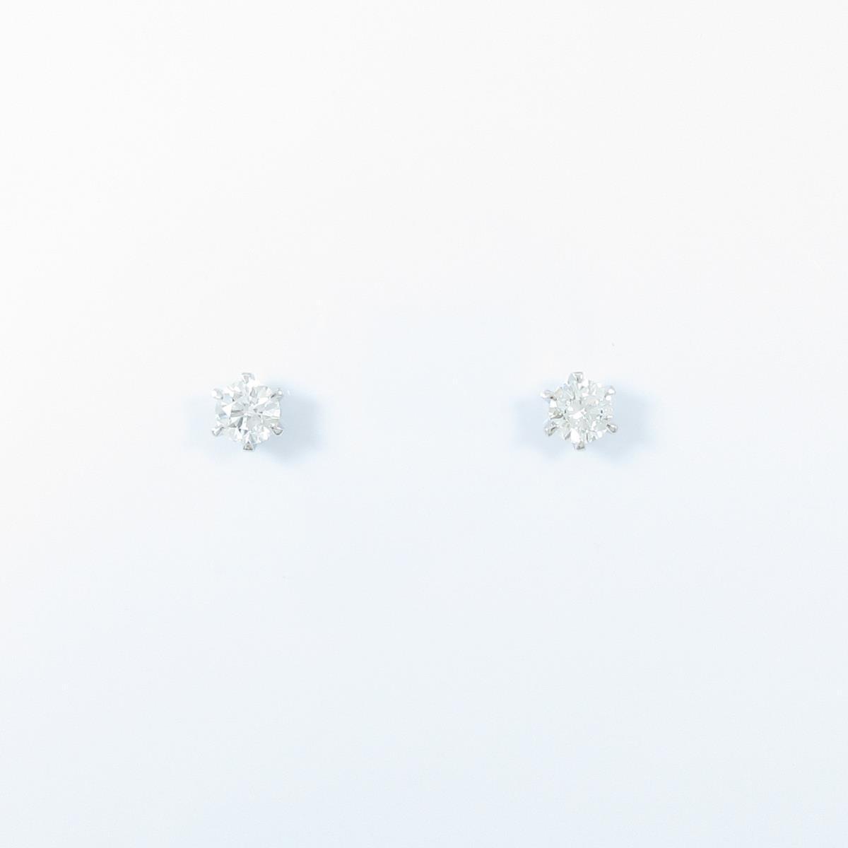 【リメイク】ST/プラチナダイヤモンドピアス 0.229ct・0.233ct・E-F・VS1-2・EXT【中古】