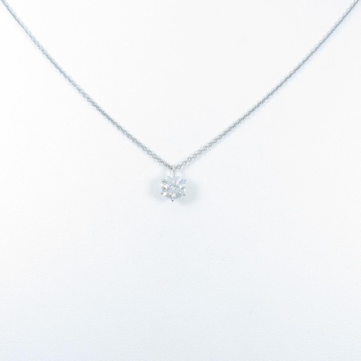 【リメイク】プラチナダイヤモンドネックレス 0.534ct・D・VVS1・VG【中古】