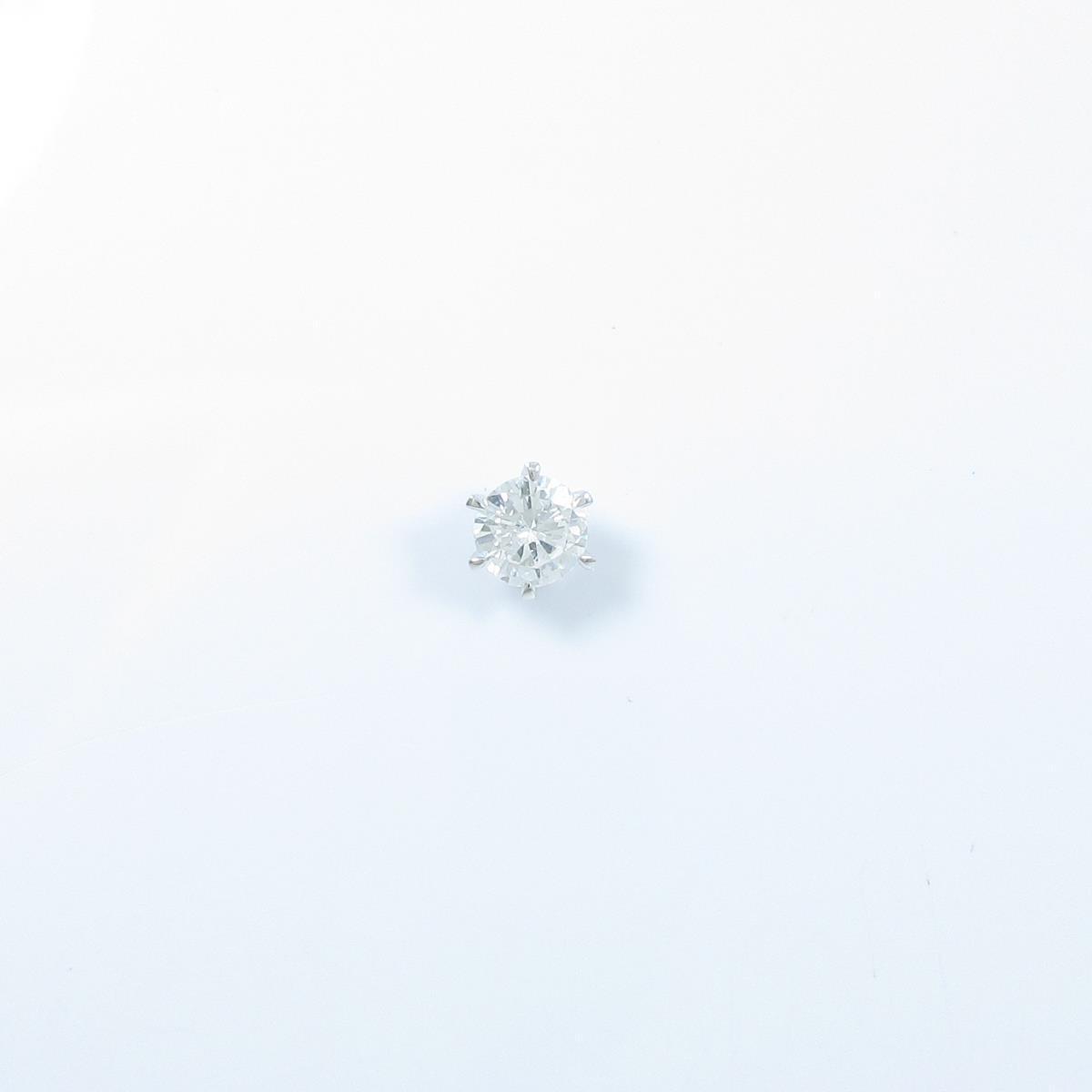 【リメイク】ST/プラチナダイヤモンドピアス 0.515ct・E・SI2・FAIR 片耳【中古】
