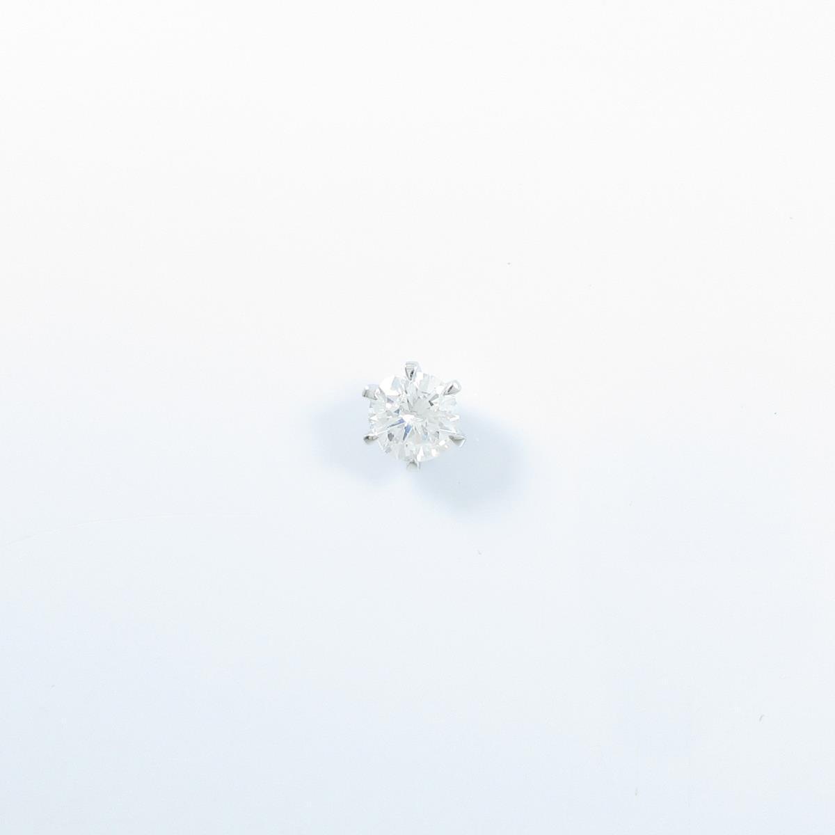 【リメイク】ST/プラチナダイヤモンドピアス 0.611ct・G・I1・VG 片耳【中古】