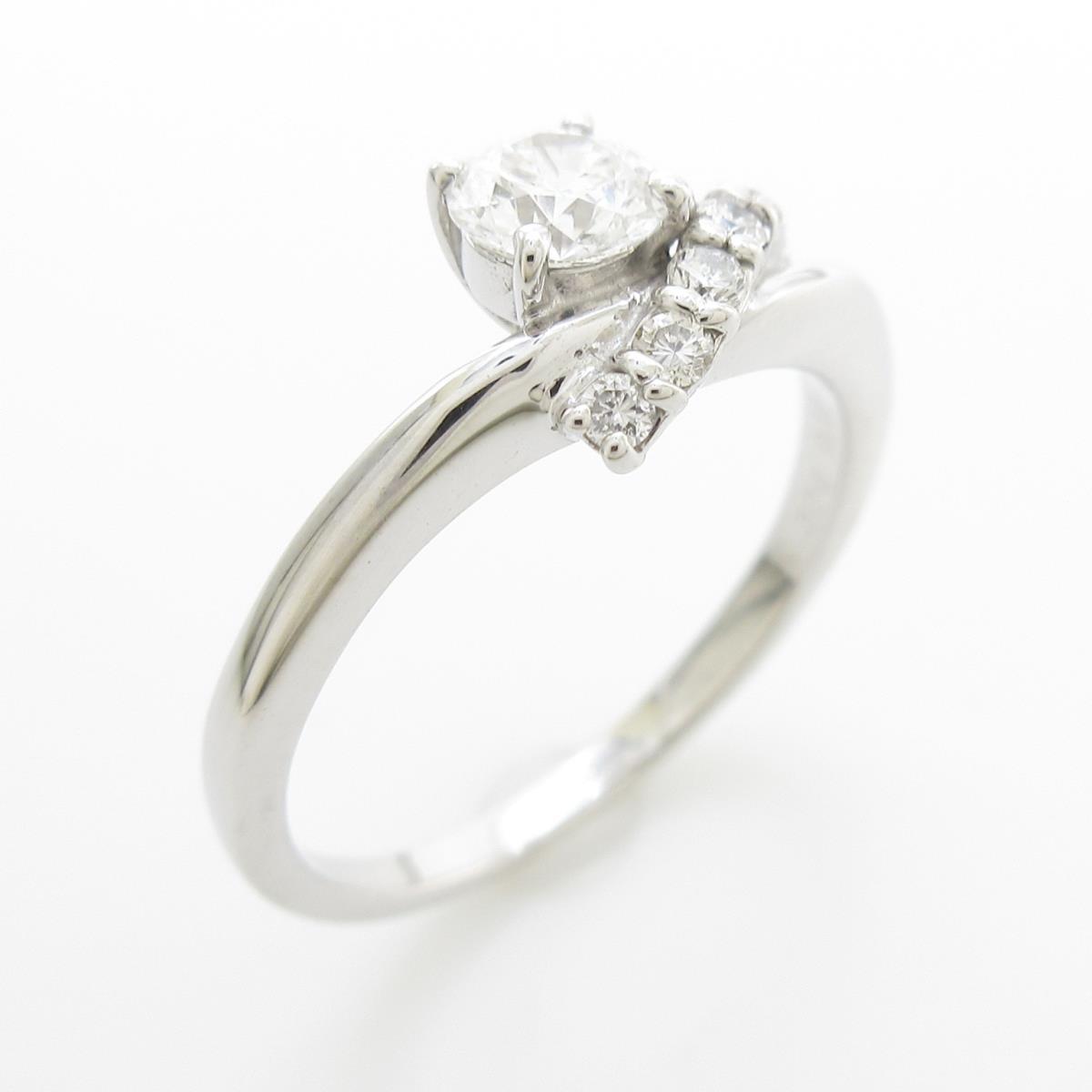 K18WG ダイヤモンドリング 0.326ct・D・VVS1・3EXT H&C【中古】