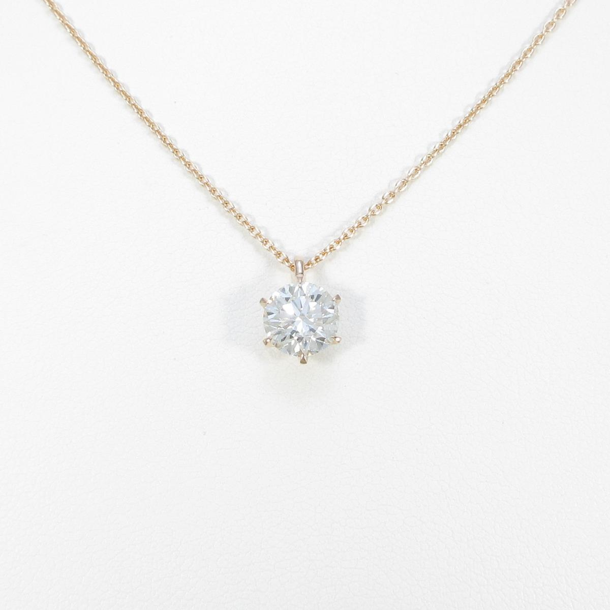 【リメイク】K18PG ダイヤモンドネックレス 1.583ct・J・SI1・VG【中古】