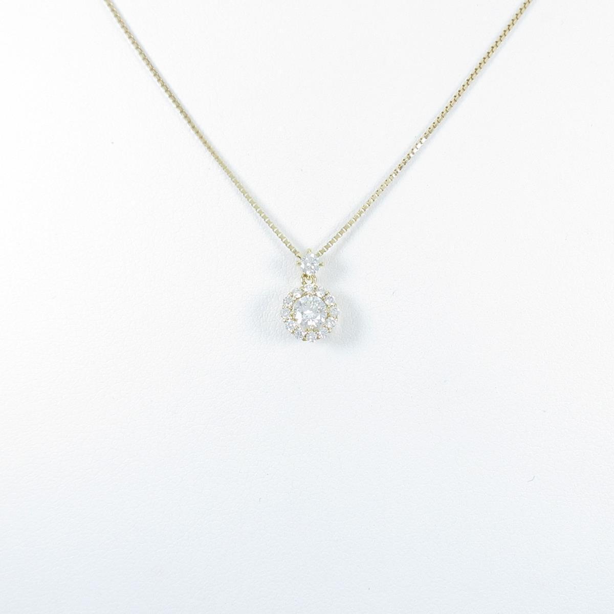 【新品】K18YG ダイヤモンドネックレス 0.266ct・F・SI2・GOOD【新品】