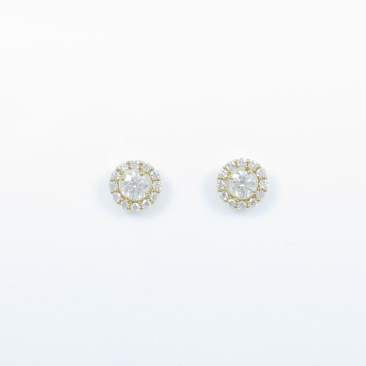 【新品】K18YG ダイヤモンドピアス 0.269ct・0.257ct・G・SI2・VG【新品】