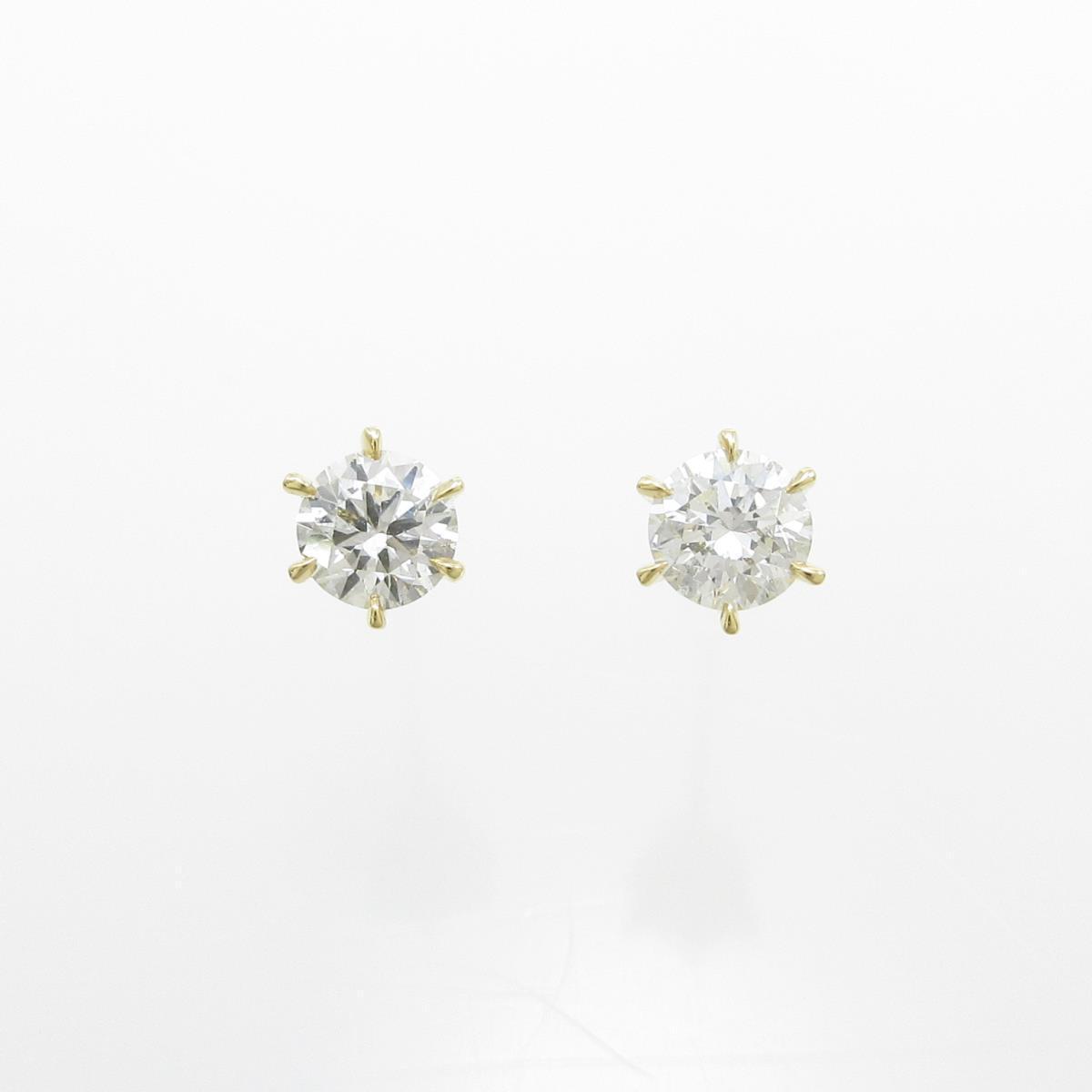 【新品】K18YG ダイヤモンドピアス 0.256ct・0.256ct・F・SI2・GOOD【新品】