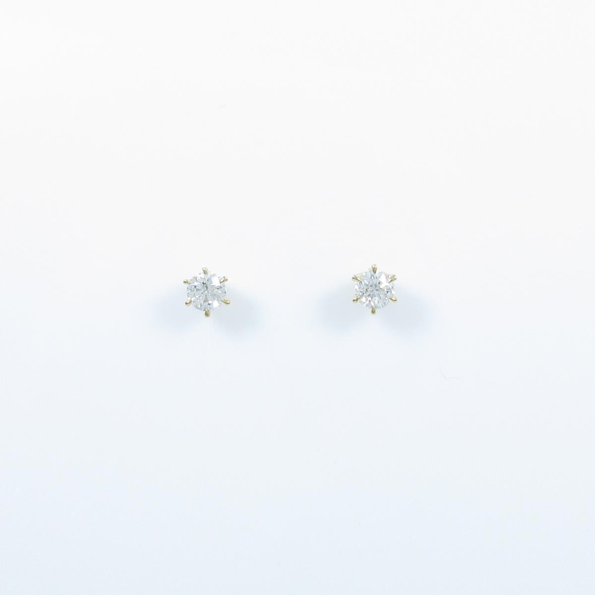 【新品】K18YG ダイヤモンドピアス 0.203ct・0.200ct・E・SI2・GOOD【新品】